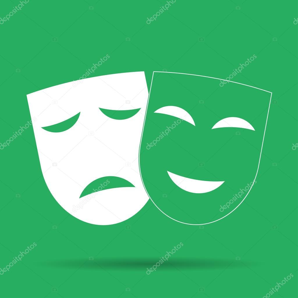 mask happy and sad