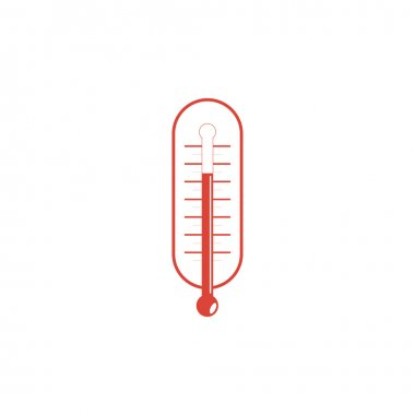 Flat style with long shadows, thermometer vector icon illustration.