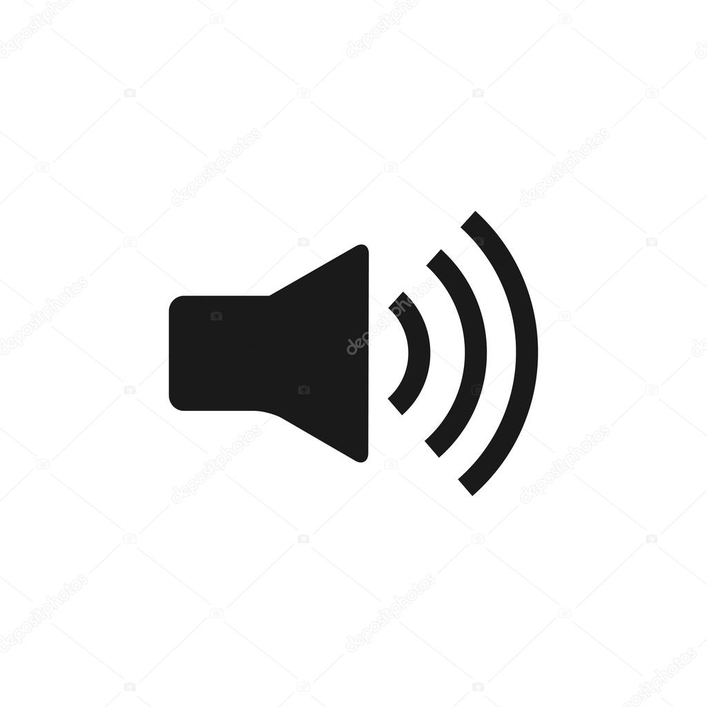 Speaker icon. Flat design style. — Stock Vector © stalkerstudent ...
