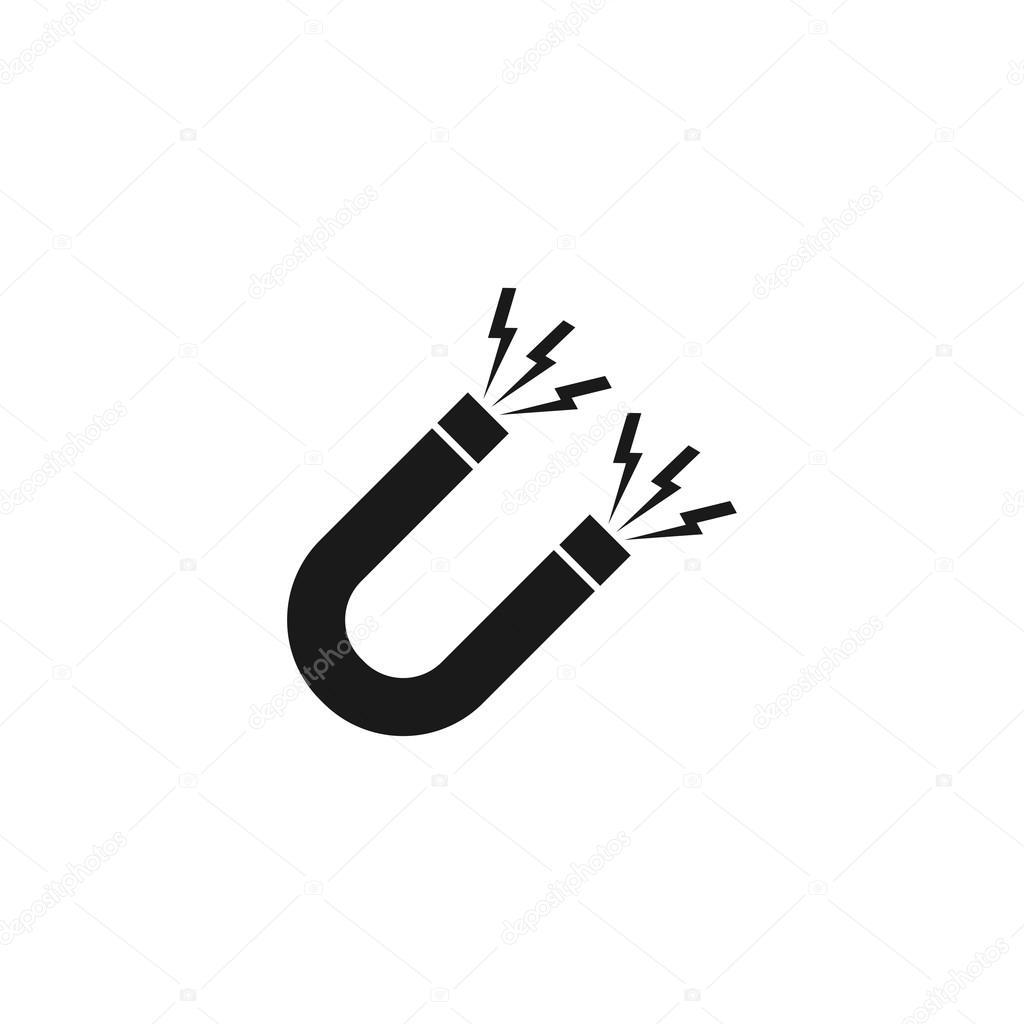 Magnet Symbol. Flat design style. — Stock Vector © stalkerstudent ...