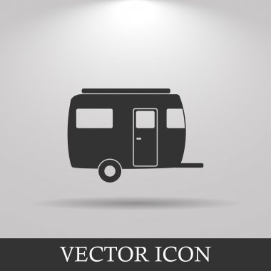 Camping trailer vector icon Design style eps 10 stock vector