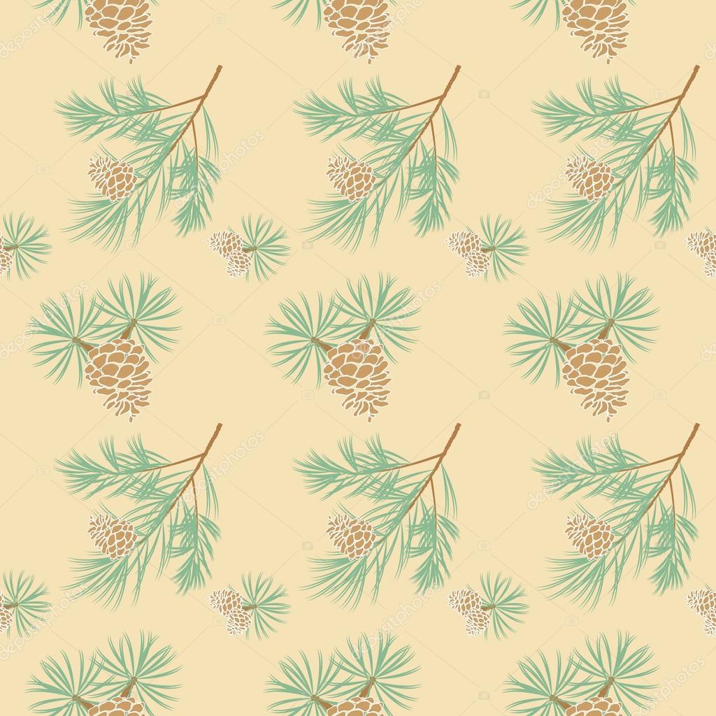 seamless pine cone