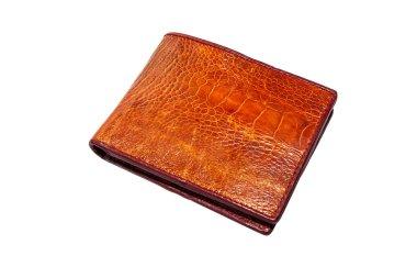 Crocodile skin leather bag