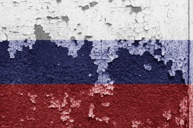 grunge russian flag background