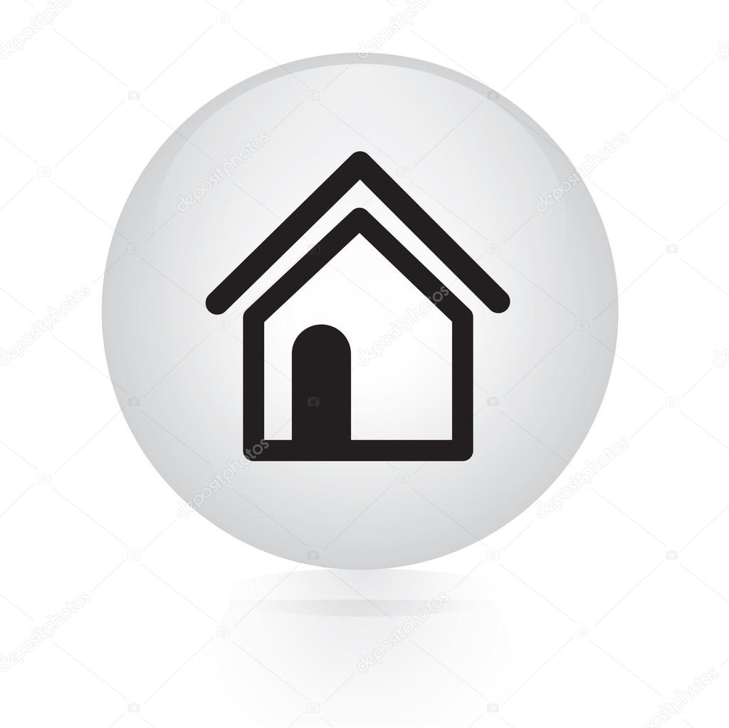"Houses Websites: Icône Web Bouton ""Home"""