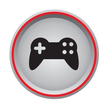 Video game controller icon circular button
