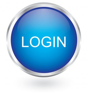 Login icon glossy button