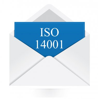 Envelope with iso 14001 message