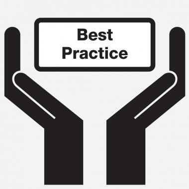 Hand showing best practice sign icon. Vector illustration.
