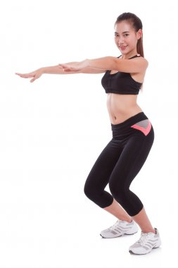 Sport woman stretching exercise. Fitness concept