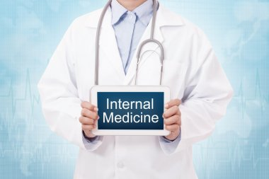 doctor with internal medicine sign
