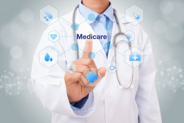 doctor with medicare sign
