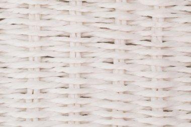 Closeup white wicker texture