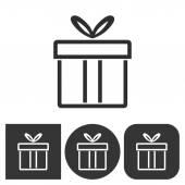 Dárkový box - vektorové ikony