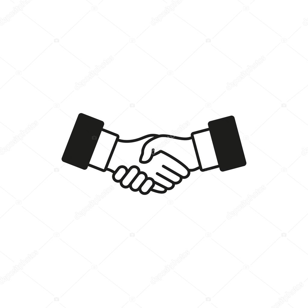 Handshake - vector icon. — Stock Vector