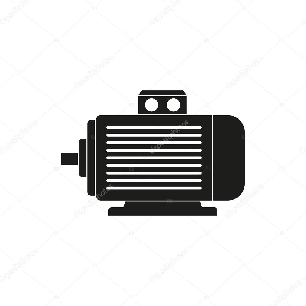 Electric motor - vector icon. — Stock Vector © lovemask #115503058