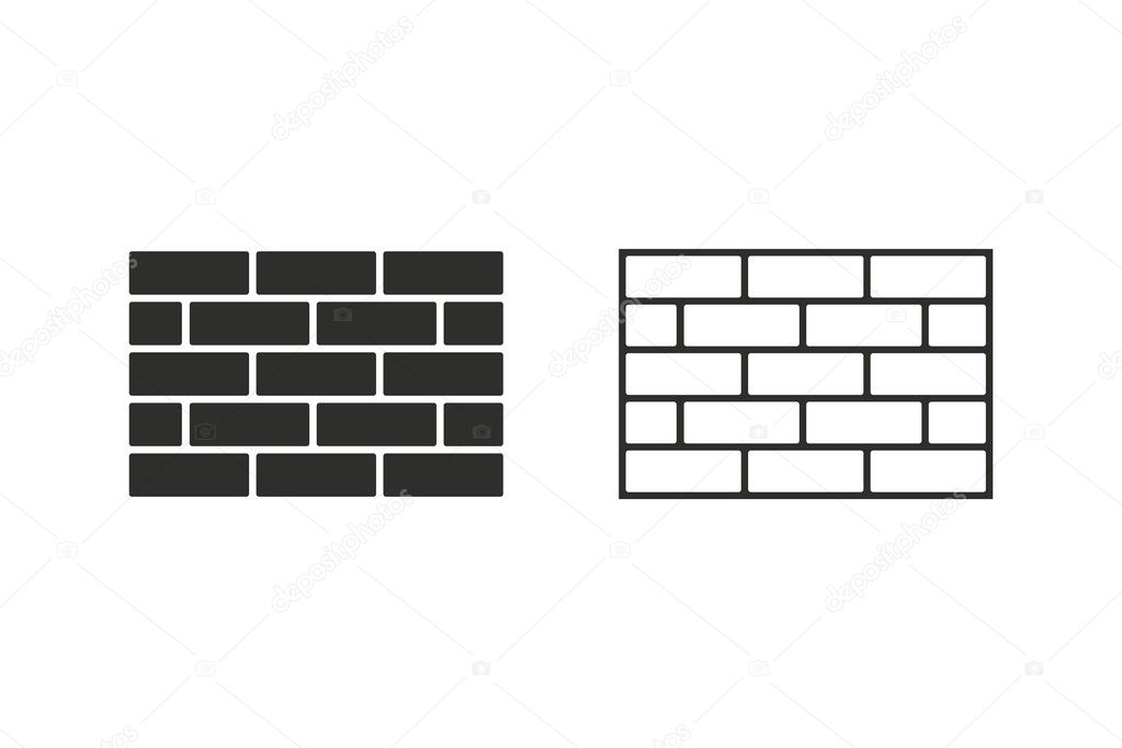 bakstenen muur vector pictogram stockvector 169 lovemask