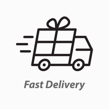 Delivery line icon. Vector illustration on white background. icon