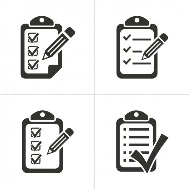 Set of simple clipboard icon