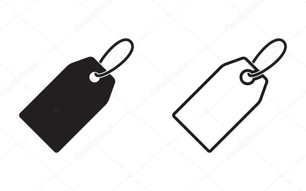 icône de l'étiquette de prix — Image vectorielle lovemask ...  White