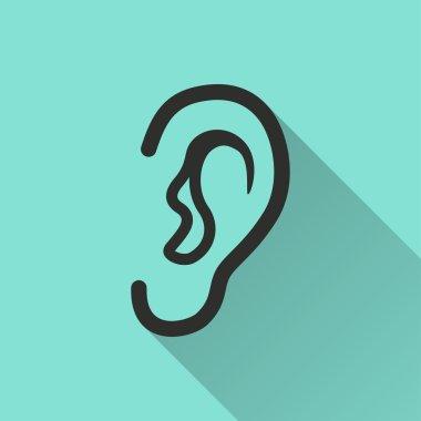 Ear  - vector icon.
