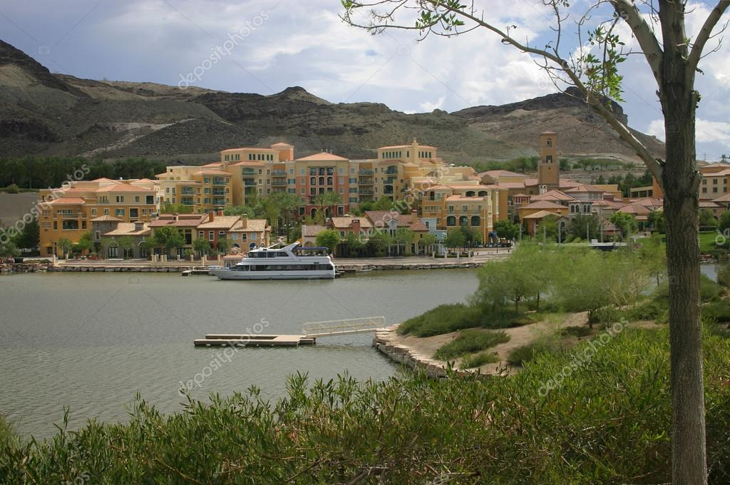 Residential development on a lake