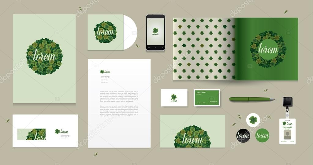 Vector corporate design for business artworks. Clover motive.