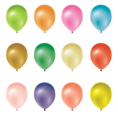 Set of colorful frosted balloons. stock vector