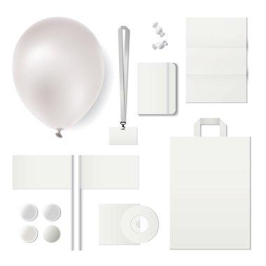 Set of corporate souvenirs.Identity templates.