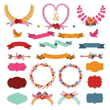 Set of cute decorative elements.