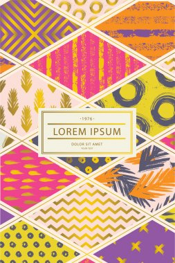 Colorful cover in patchwork style