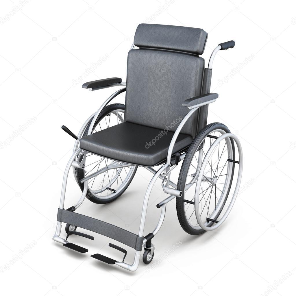 Sedia a rotelle su sfondo bianco immagine di rendering 3d for Sedia a rotelle