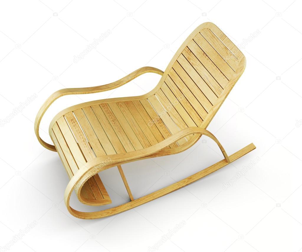 Sedie A Dondolo Depoca : D illustrationl di sedia a dondolo in legno isolata su backg