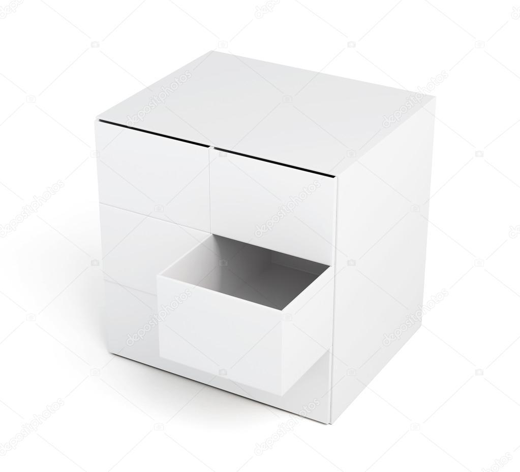 Kommode Mit Schublade Isoliert Auf Weissem Hintergrund Stockfoto