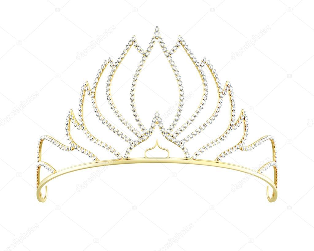 selección asombrosa salida online bonito diseño Diadema de oro | Diadema oro aislada sobre fondo blanco ...