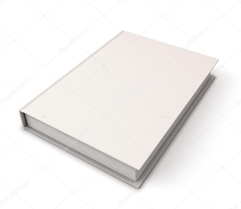 plantilla de cubierta de libro en blanco — Foto de stock © 3DMAVR ...