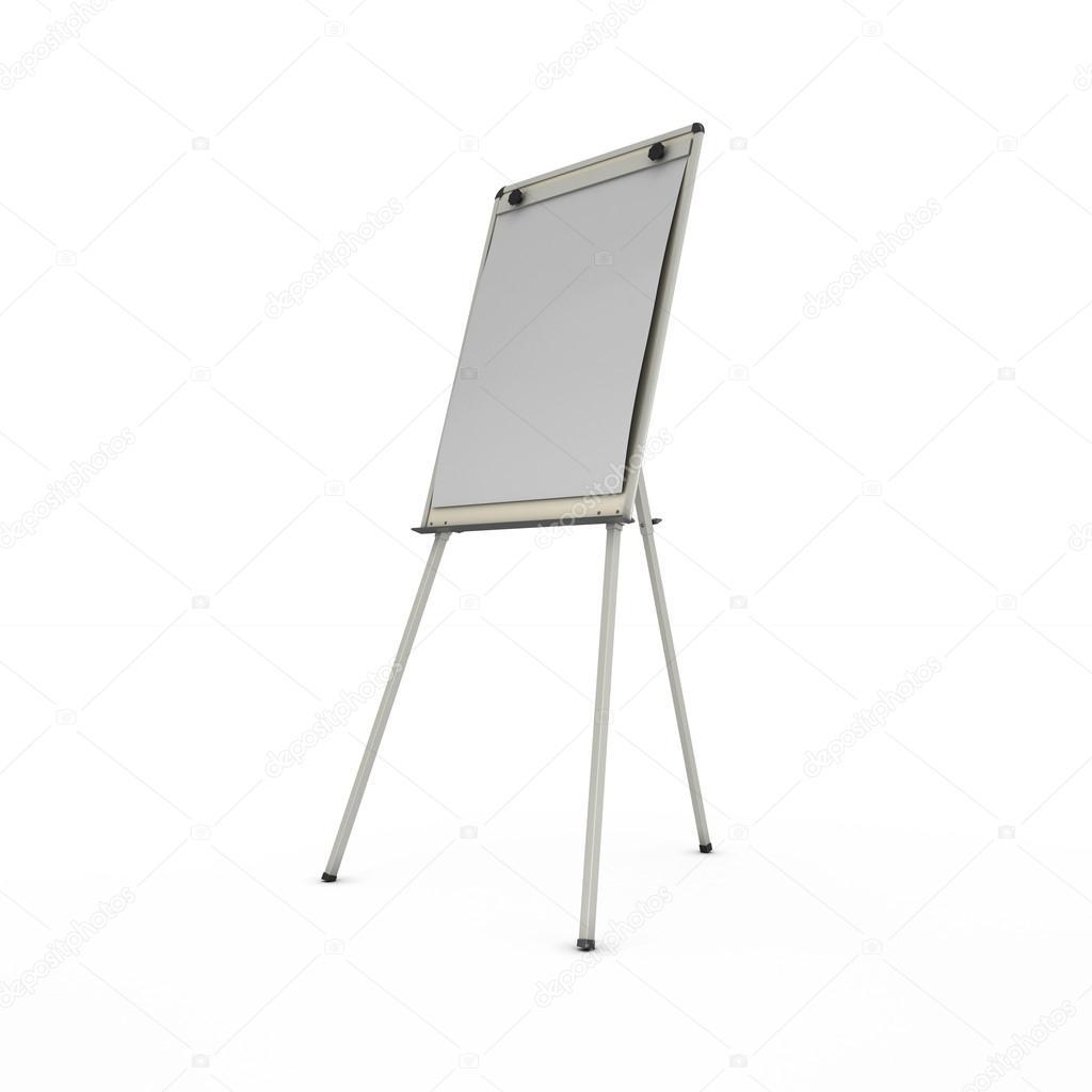 publicidad soporte o caballete aislado sobre fondo blanco — Fotos de ...