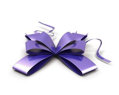 Purple festive bow