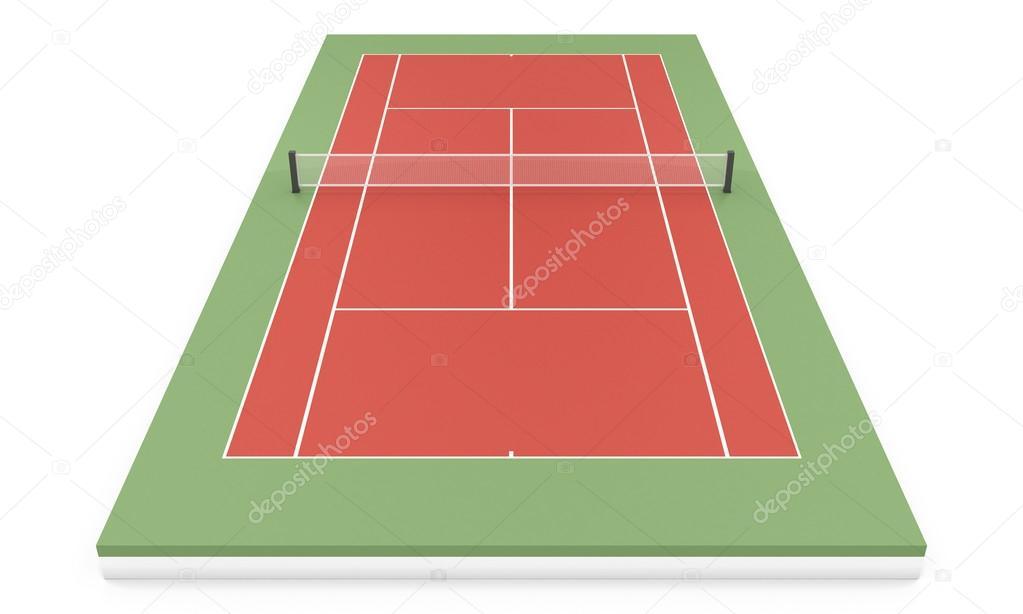 3 D イラスト テニスコート ストック写真 3dmavr 64062327
