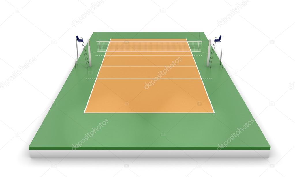 Volleybalveld Of Veld Stockfoto 169 3dmavr 64462537