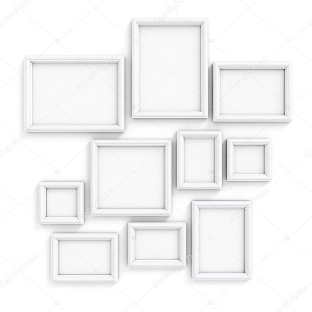 Blanco marcos para cuadros y fotos — Foto de stock © 3DMAVR #67894935