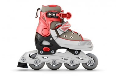 3d Roller skate side view