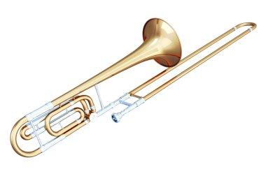 3d illustration of trombone