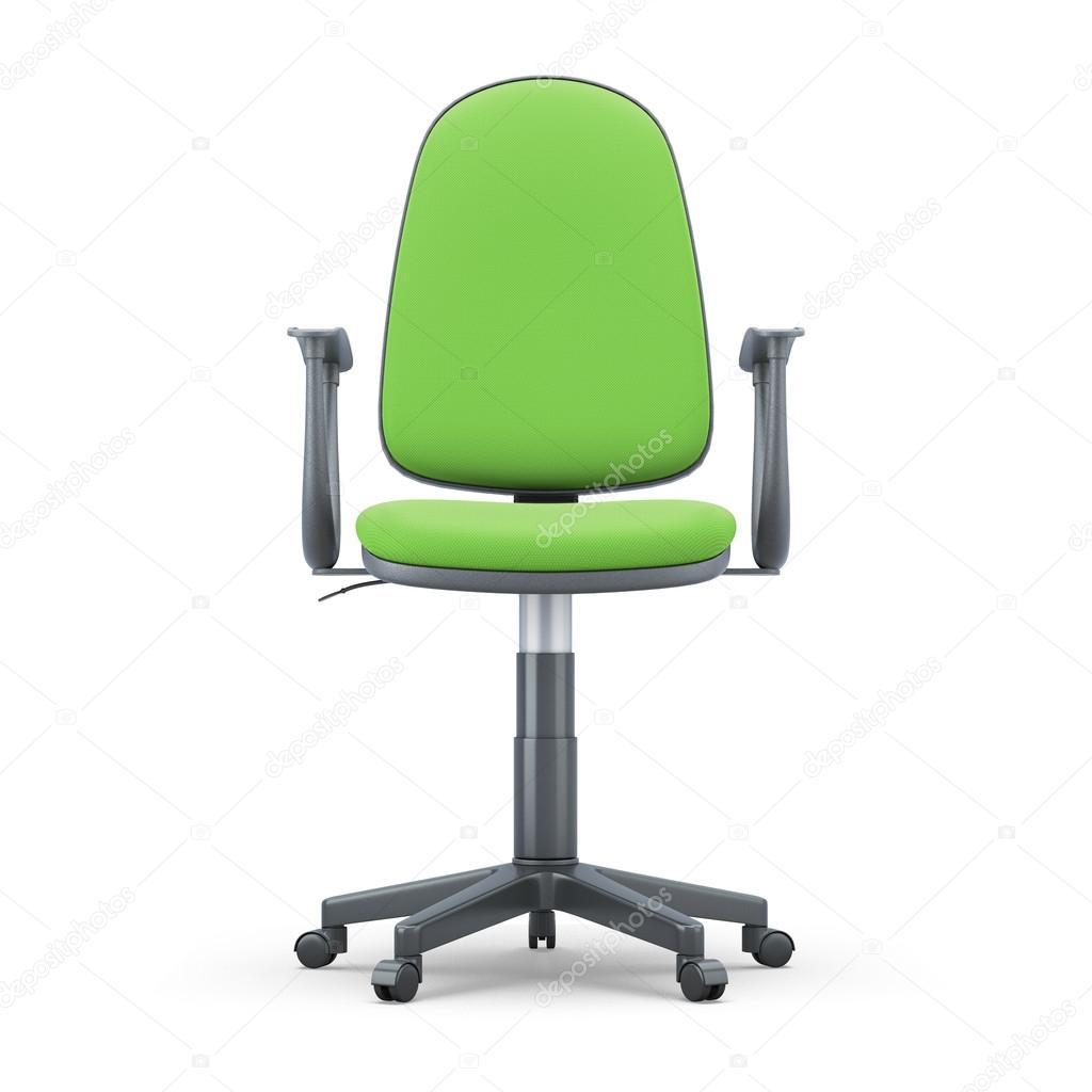 Vista frontale di sedia ufficio verde foto stock for Ufficio verde