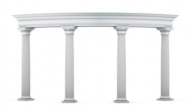 Entrance group with columns in the classical style