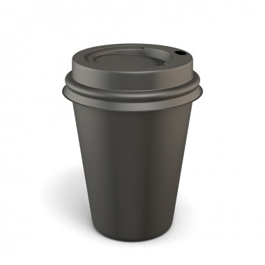 Empty black cup of coffee