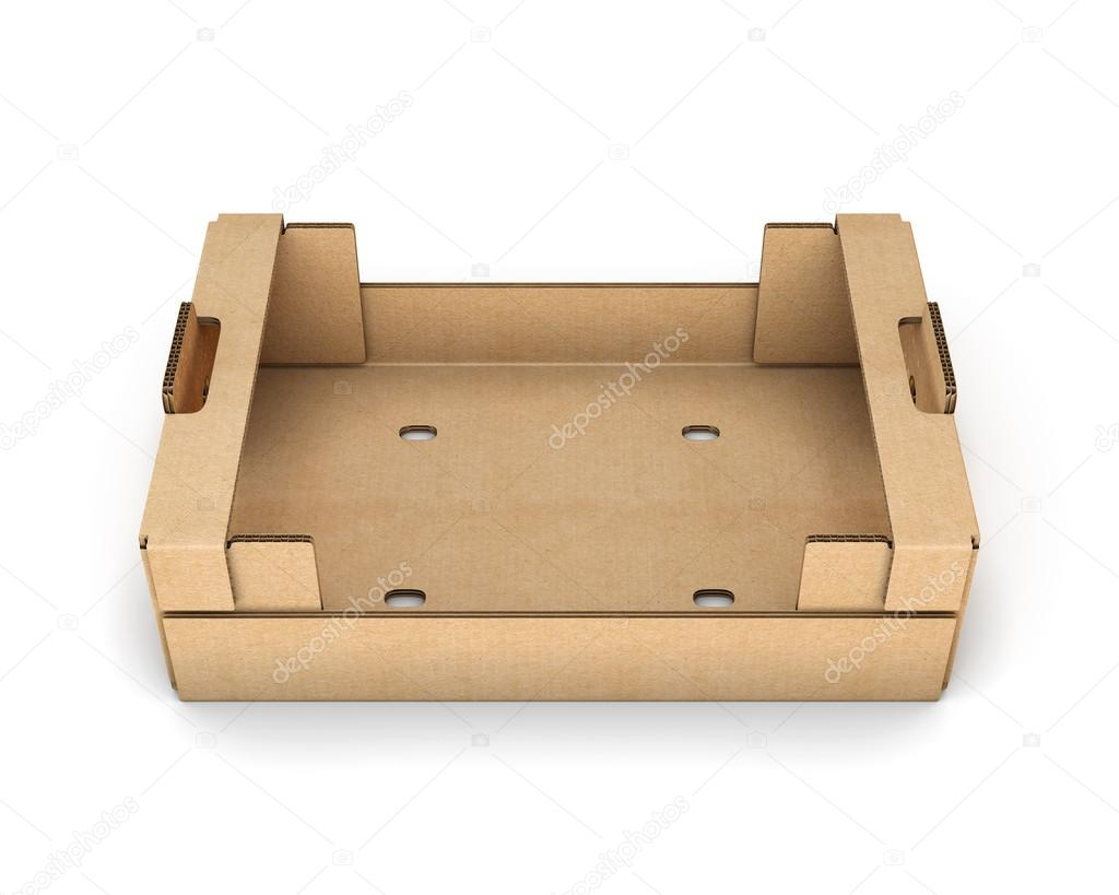 Empty cardboard boxes for fruit and vegetables