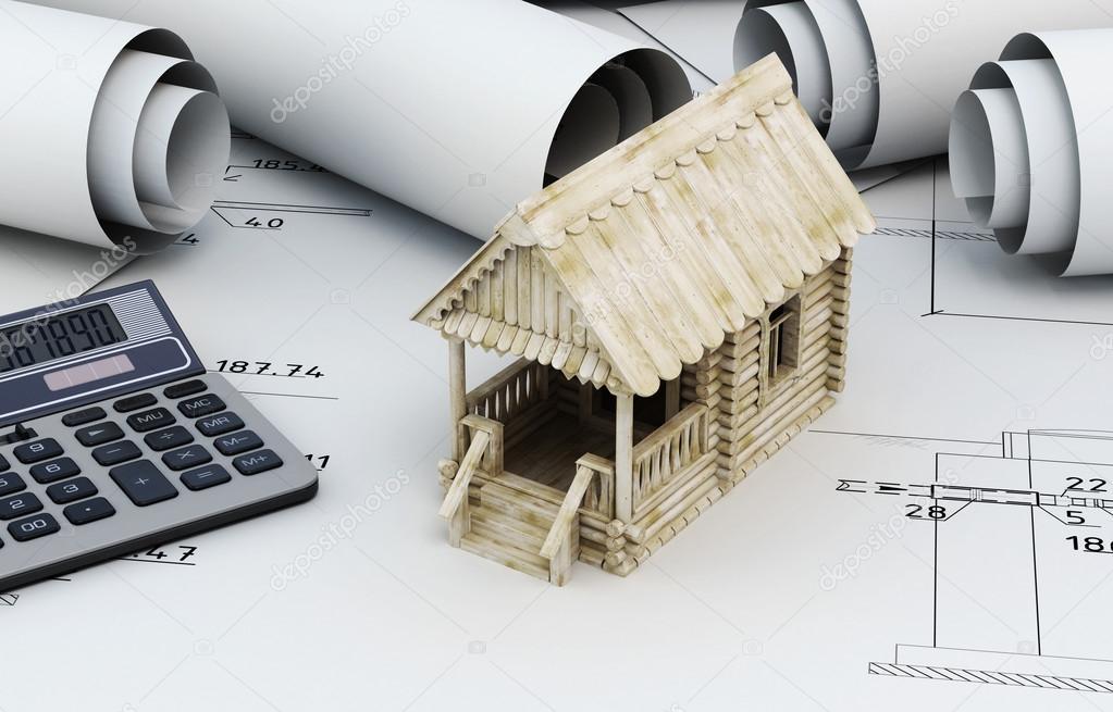 Dessins Pour La Construction Et La Petite Maison En Bois Avec