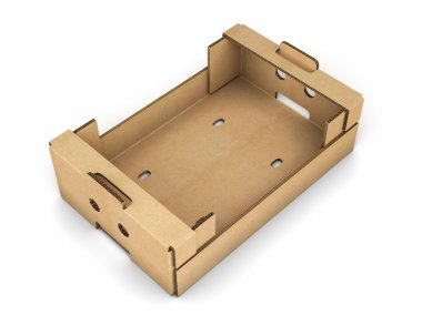 Cardboard box for fruit and vegetables