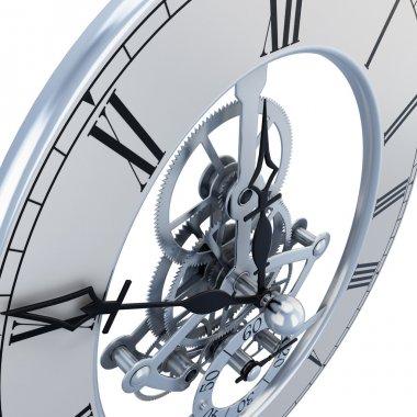 Clock mechanism close-up